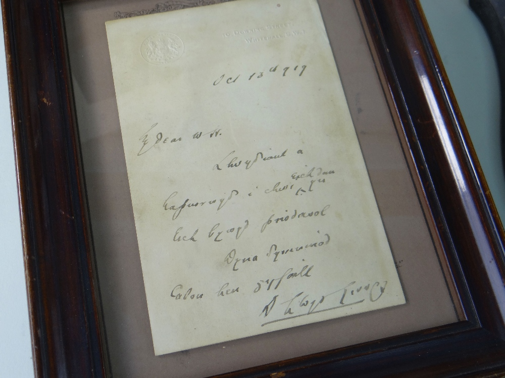 VARIOUS ITEMS RELATING TO FORMER PRIME MINISTER DAVID LLOYD GEORGE (1863-1945) including (1) a - Image 3 of 5