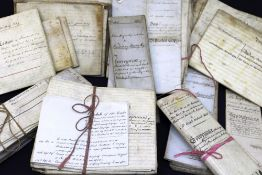 APPROXIMATELY SIXTY 18TH / 19TH CENTURY DEEDS & DOCUMENTS RELATING TO PROPERTIES IN BRECONSHIRE some