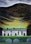 OGWYN DAVIES coloured print - the popular image 'Soar y Mynydd', the iconic and hauntingly beautiful