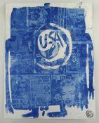 NEALE HOWELLS handmade cyanotype print with homemade negatives - entitled 'New Variant I', signed