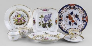 GROUP OF WELSH PORCELAINS comprising (1) Swansea porcelain square dish, with typical moulded border,