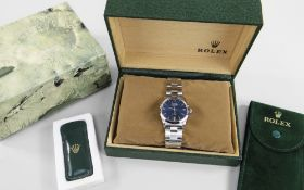 ROLEX OYSTER PERPETUAL AIR-KING AUTOMATIC BRACELET WATCH, ref. 5500, circa 1990, stainless steel,