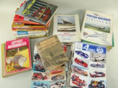 ASSORTED BOOKS & MAGAZINES relating to transport, buses, trams, modelling ETC