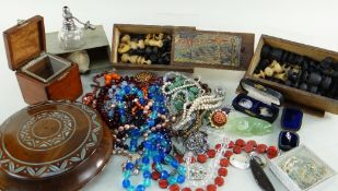 ASSORTED JEWELLERY & COLLECTABLES comprising costume and dress jewellery including beads,