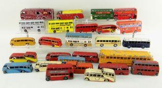 ASSORTED DINKY DIECAST BUSES, including Supertoys Wayne Bus, Supertoys B.R. Horsebox, A.E.C. Monarch