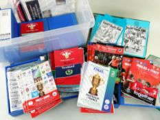 LARGE QUANTITY OF INTERNATIONAL & CLUB RUGBY PROGRAMMES predominantly featuring Cardiff Rugby Club