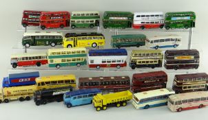 ASSORTED DIECAST BUSES and TANKERS, mostly E.F.E. models, including 3x Harrington Cavalier