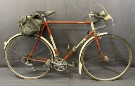 HUGH PORTER BANTEL GENT'S RACER BICYCLE with Brookes leather saddle and back carry bag