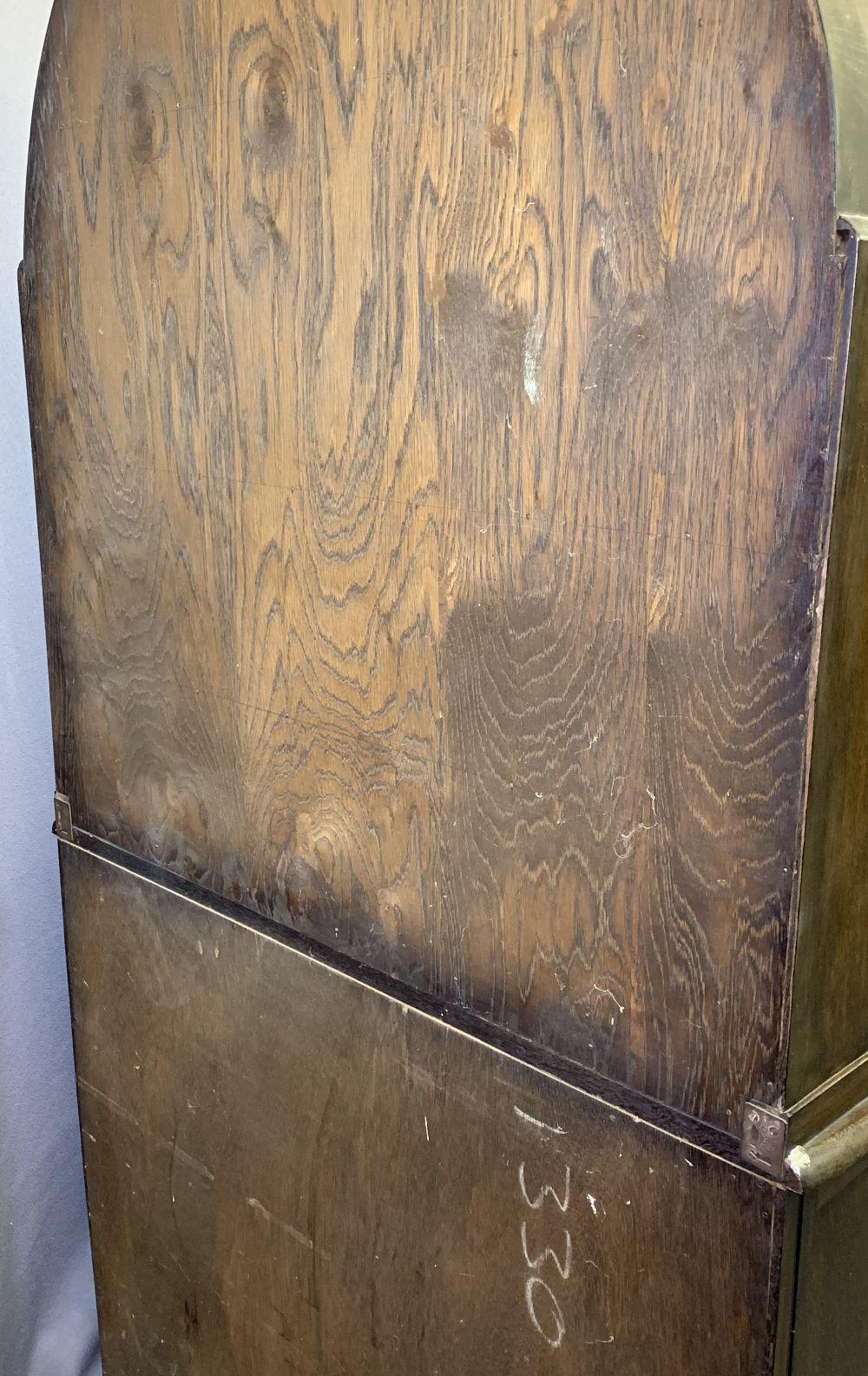 VINTAGE OAK DUTCH TOP DRESSER and an oak barley twist gateleg dining table, 191cms overall H, 96. - Image 4 of 5