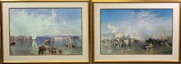 JOSEPH MALLORD WILLIAM TURNER prints (2) - 'Venice', 53 x 82cms and 'Campo Santoi Venice', 53 x