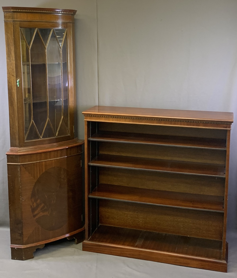 EDWARDIAN & LATER HOUSEHOLD FURNITURE, three items to include a reproduction mahogany open - Image 4 of 6