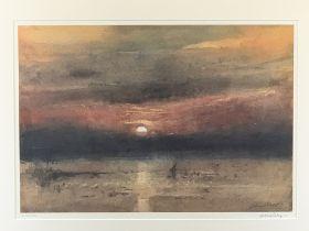 WILLIAM SELWYN print - Sunset 242/500, 41 x 58cms