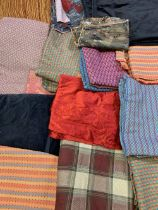 LARGE QUANTITY OF UPHOLSTERY FABRIC various patterns and colours