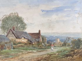 ATTRIBUTED TO DAVID COX watercolour, unframed, 27.5 x 38cms