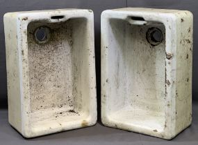 VINTAGE BELFAST SINKS (2), 27cms H, 63cms W, 41cms D