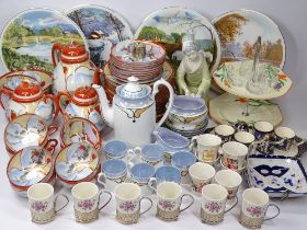 JAPANESE EGGSHELL & OTHER TEA & COFFEE WARE, two part sets with mixed quantity of Victorian and