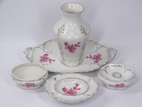 ROYAL DUX DRESSING TABLE ITEMS and a large assortment of other china and pottery (4 boxes)