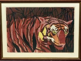 SARAH PITMAN limited edition print 2/6 - 'Asian Treasure', signed and dated in pencil '85, 55 x