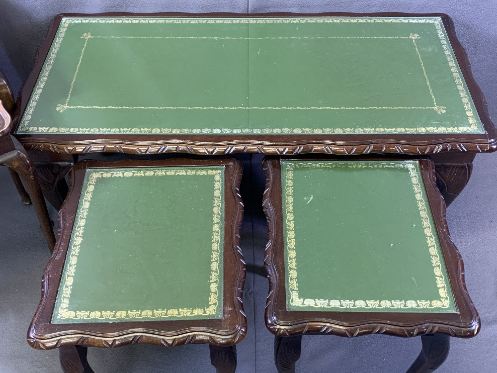 VINTAGE & REPRODUCTION OCCASIONAL FURNITURE BUNDLE to include a glass top Long-John coffee table and - Image 3 of 4