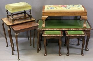 VINTAGE & REPRODUCTION OCCASIONAL FURNITURE BUNDLE to include a glass top Long-John coffee table and
