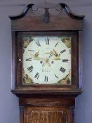 JOHN OWEN PWLLHELI CIRCA 1840 OAK LONGCASE CLOCK with 14inch square dial set with Roman numerals,
