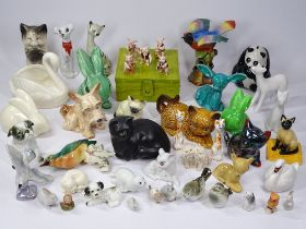 SYLVAC, ROYAL DOULTON, Dartmouth, USSR animal and bird figurines, a good mixed collection