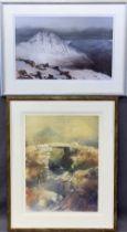 ROB PIERCY prints - Tryfan 474/500, 38 x 57cms and Bridge Below Cnicht 19/500, 60 x 37cms