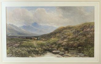 EDMOND MORISON WIMPERIS V.P.R.I 1835 - 1900 watercolour - 'Cows Returning for Milking in