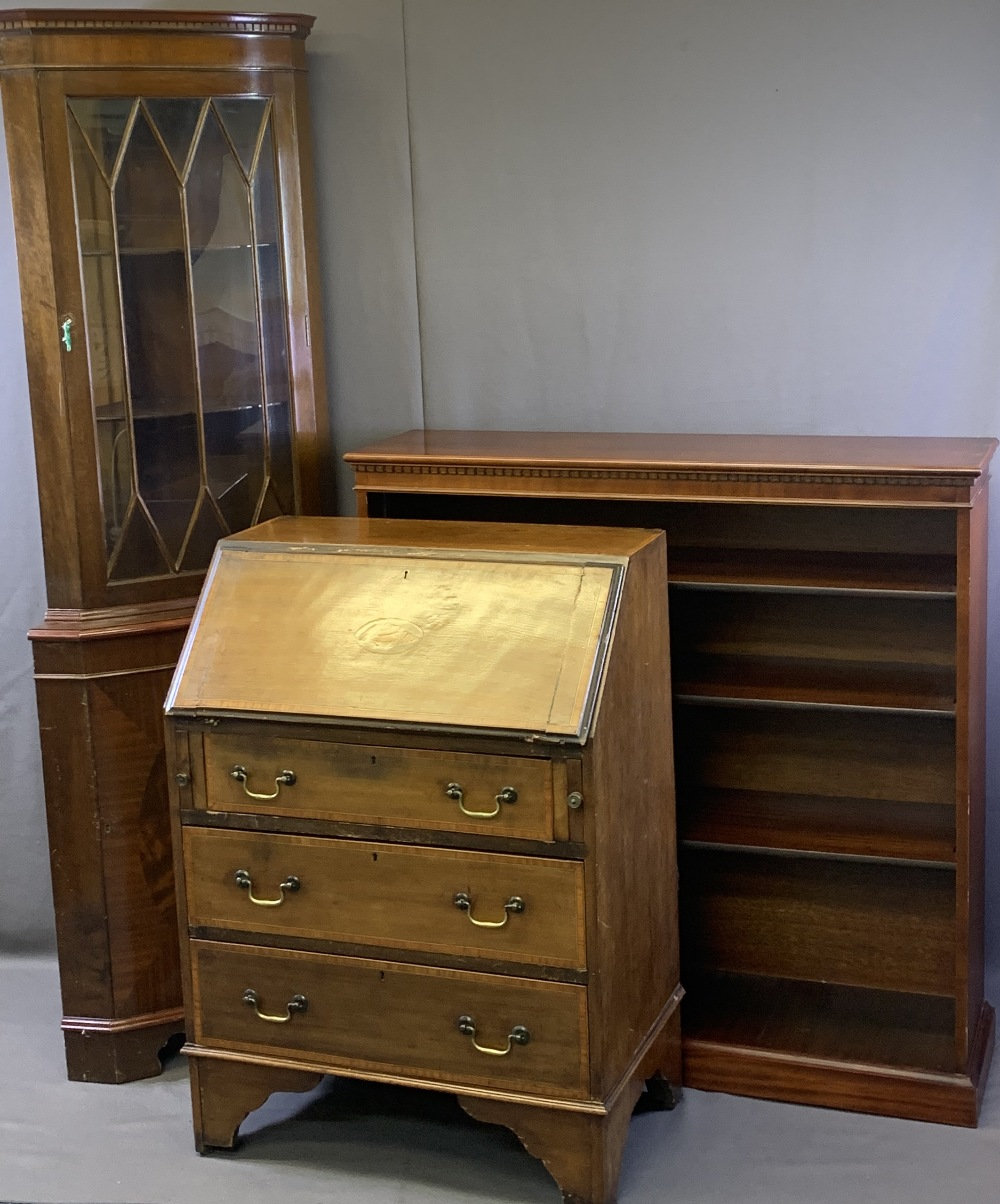 EDWARDIAN & LATER HOUSEHOLD FURNITURE, three items to include a reproduction mahogany open