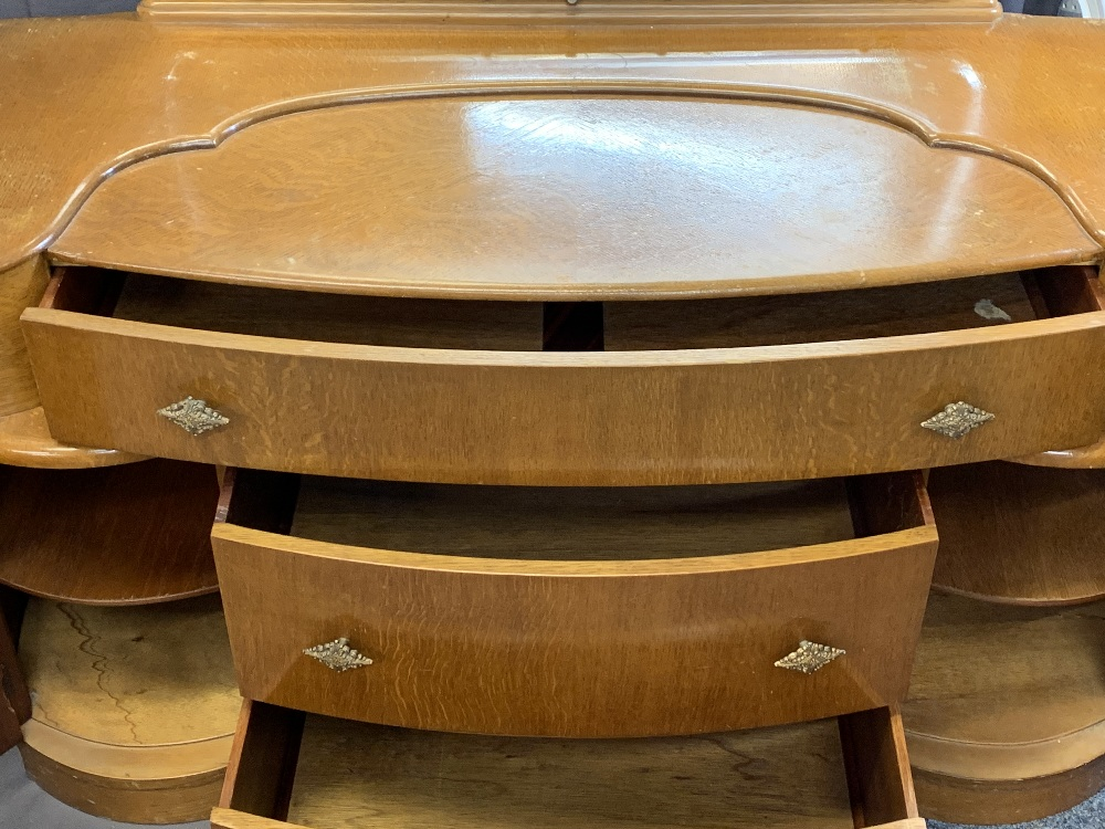 VINTAGE BEDROOM FURNITURE, FOUR ITEMS to include a Lebus six drawer chest, 117.5cms H, 79cms W, - Image 3 of 6