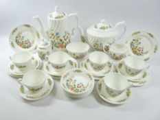 AYNSLEY COTTAGE GARDEN TEAWARE - approximately 30 pieces, and another Aynsley item