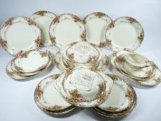 BURGESS DINNERWARE approximately 30 pieces