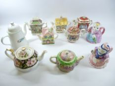 SADLER NOVELTY TEAPOTS - Robin Hood, Romeo & Juliet, ETC. Also, Royal Albert and other teapots