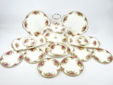 ROYAL ALBERT OLD COUNTRY ROSES TEAWARE (approximately 15 pieces)