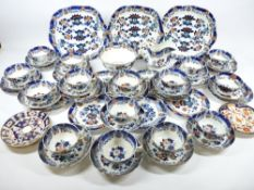 ANTIQUE STAFFORDSHIRE TEAWARE - approximately 50 pieces