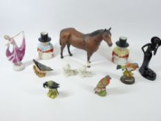 BESWICK, ROYAL WORCESTER, Art Deco and Welsh Lady ornamental cabinet ware, a quantity