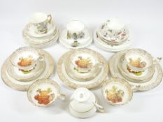 AYNSLEY FRUIT DECORATED TEAWARE and a quantity of other similar