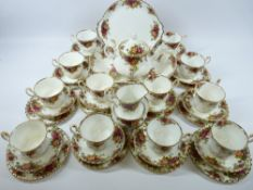 ROYAL ALBERT OLD COUNTRY ROSES TEAWARE - approximately 40 pieces