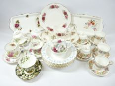 TEAWARE - Royal Albert Poppy, Paragon 'Country Lane' and other assorted