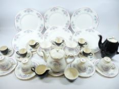 GAINSBOROUGH FLORAL DECORATED TEAWARE and Alfred Meakin mid-century style coffeeware