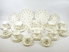 TEAWARE - Duchess Pink Rose pattern, approximately 35 pieces