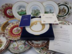 DECORATIVE CABINET & WALL PLATES - a mixed quantity by Limoges, Wedgwood, Chinese and Japanese