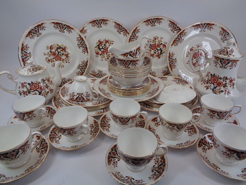 COLCLOUGH TEA, COFFEE & DINNERWARE - approximately 50 piece including tea and coffee pots