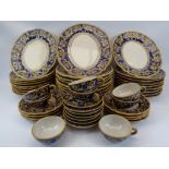 MEDITERANNEAN MAJOLICA TEA & DINNERWARE - 51 pieces to include 33cms diameter dinner plates