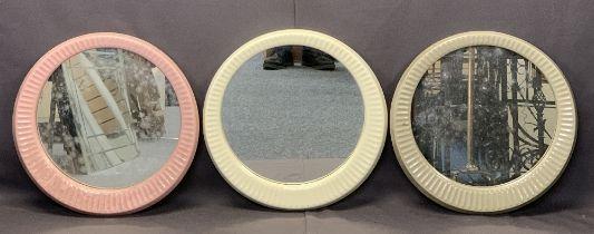 STYLISH CERAMIC FRAMED MIRRORS - Radiante by Twyford's Bathrooms, one cream, one pink, one grey,