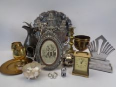 MIXED EPNS, BRASS & PEWTER WARE COLLECTABLES
