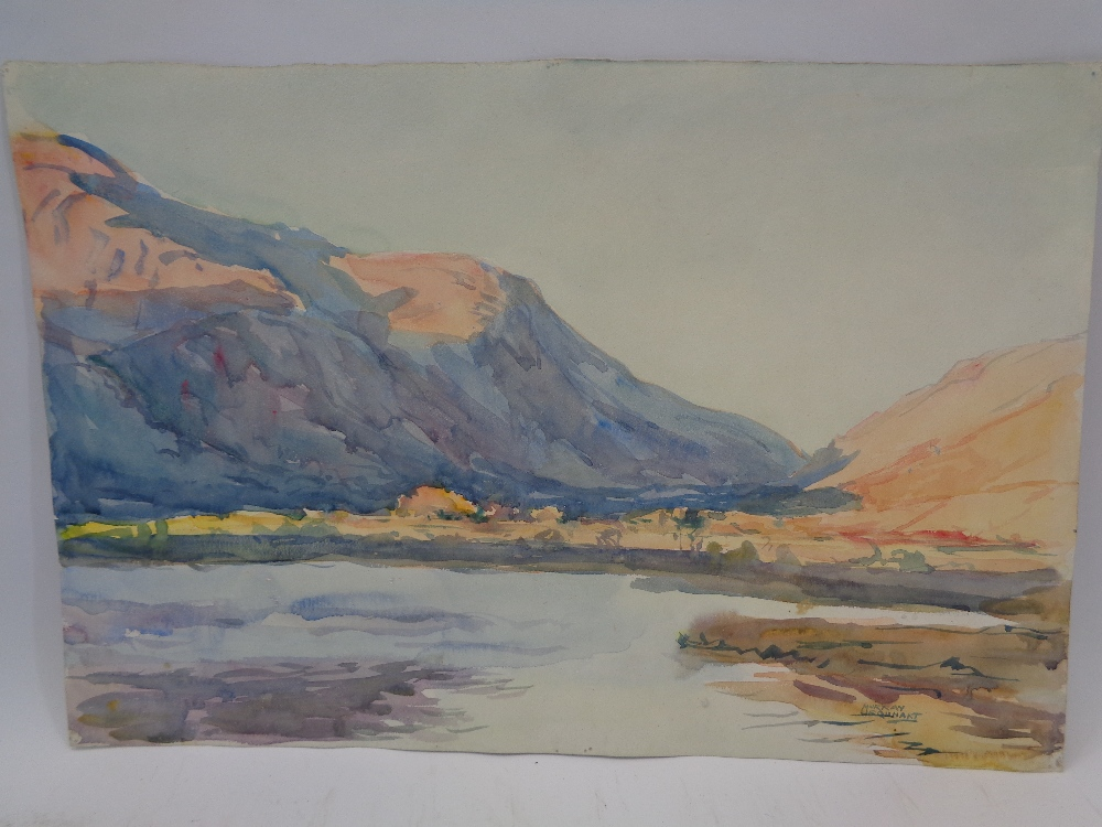 MURRAY MCNEEL CAIRD URQUHART (1880 - 1972) two unframed watercolours - Gwynedd mountains and - Image 5 of 5
