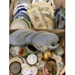 JAPANESE FISH, DOULTON SERIESWARE & OTHER DECORATIVE WALL PLATES, mixed table and cabinet crockery