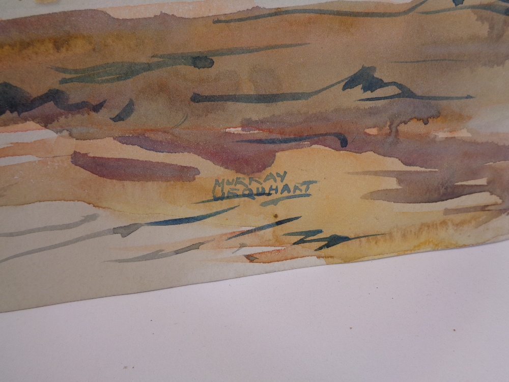 MURRAY MCNEEL CAIRD URQUHART (1880 - 1972) two unframed watercolours - Gwynedd mountains and - Image 3 of 5