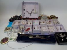 MODERN SEMI-PRECIOUS STONE SET STERLING SILVER JEWELLERY, costume jewellery and collectables
